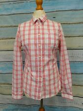Ladies Jack Wills l/s fitted shirt w red check UK 12 formal office smart
