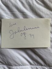 John Lennon 1974 autograph card signed with art Included Is A COA
