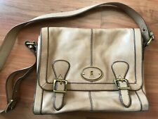 Ladies TAN Leather FOSSIL SHOULDER SATCHEL BAG *NICE COND*