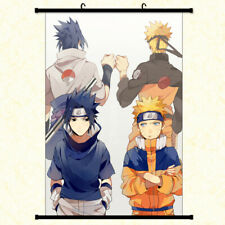 NARUTO and Sasuke Anime Poster with hooks framed hanger 24x36 inches