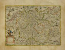 Hondius: Germaniae. Nova et Accurata delineatio. Alkolorierte Karte um 1631