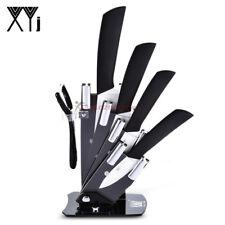 Kit cuchillos de cerámica para cocina con soporte para pelador 6 en 1 xyj