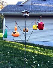 Backyard garden Bird-feeder Hanger Birdhouse (Bottle tree style) Bird House Usa