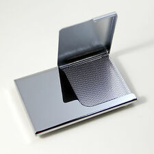 Mirror Finish Stainless Steel Business Name Credit ID Card Holder Case Silver