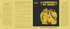 Ernest Hemingway A FAREWELL TO ARMS facsimile dust jacket for 1st and early eds.