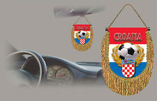 CROATIA 2018 WORLS CUP FINALIST SOCCER FLAG CAR MINI BANNER, PENNANT