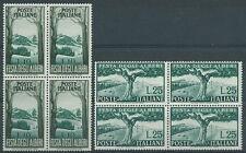 1951 ITALIA ALBERI QUARTINA MNH ** - RR3238