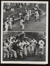 Original 1953 Mickey Mantle World Series Grand Slam Wire Photo
