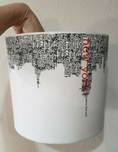 Cute Vintage NEW York City Streets White Lamp Light Shade Red MODERN