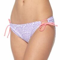 SO Junior Size XS S M L XL Purple White Drawstring Hipster Bikini Bottom Swim