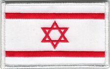 Medic White Red Star of David Israeli Flag Patch VELCRO® BRAND Hook Fastener Com