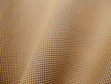 Mid Century Modern VINTAGE Fabric Gold Gray Small Waffle Weave Upholstery BTY