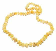 Genuine Baltic Amber Beads Necklace for Adult Butter 45 - 47 cm
