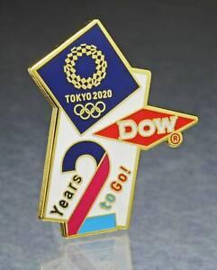 OLYMPIC PINS BADGE 2020 2021 TOKYO JAPAN DOW SPONSOR 2 YEARS TO GO COUNTDOWN