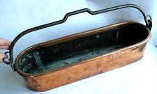 ANCIEN POISSONNIER EN CUIVRE 52 cm PLAT A POISSON XIXème OLD COPPER FISHMONGER