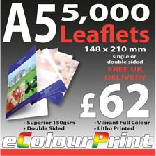 A5 Colour Printed 150gm Gloss Flyers / Leaflets 5,000