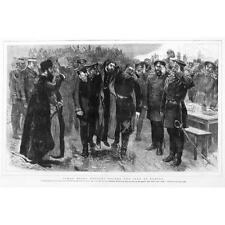 RUSSO TURKISH WAR Osman Pasha before the Czar at Plevna - Antique Print 1878