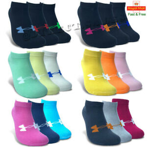Under Armour Womens Ankle No Show Trainer Socks Cotton Sports GYM Socks 4-7 lot