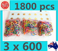 SALE NOW 1800 Loom Bands/Rubber Bands Rainbow Colour+Glitter +S clips+ hooks