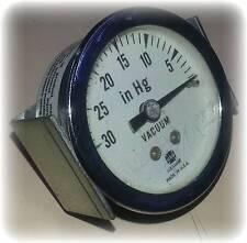 "Gauge, General Purpose, Panel Mount, Vacuum, 1-½"", 0""-30"" Hg, Dry, Center Back"