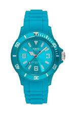 NEO watch NICE-1 Damen Herren Uhr Armbanduhr Tuquoise Silikonarmband N1-019