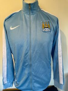 Manchester City Football Club Nike Tracksuit Track Top Jacket Large Mens
