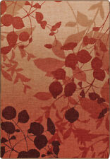 """4x6 Milliken Silhouette Sierra Red Casual Leaves Area Rug - Approx 3'10""""x5'4"""""""