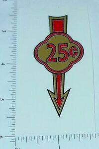 Pair 25 Cent Arrow Vending Machine Stickers V-19