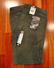 NWT DICKIES DU336RMS SANDED DUCK MOSS CARPENTER WORK JEANS W34 X L34