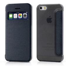 ETUI A RABAT iPHONE 4 4S BLEU MARINE FLIP COVER ECO-CUIR (PU)