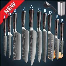 Kitchen Knife Set Professional Japanese Damascus Pattern Stainless Steel Knives