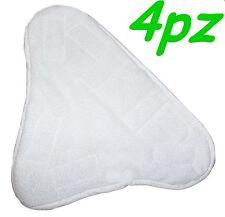 SET 4 PANNI MICROFIBRA PER SCOPA A VAPORE X5 H2O MOP H20  CON VELCRO PAVIMENTO