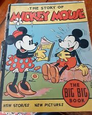 The Story Of Mickey Mouse – 1935 The Big Big Book Whitman Publishing Co