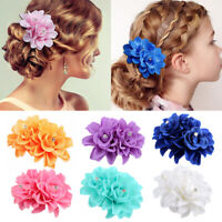 Charm Lily Flower Hair Pins Clip Women Bridal Wedding Party Hairband Accessories