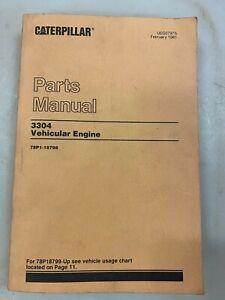 Caterpillar 3304 vehicular engine parts manual. Genuine Cat book.