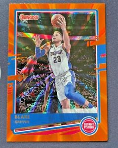 2020/21 Panini Donruss Basketball Blake Griffin Orange Laser #69