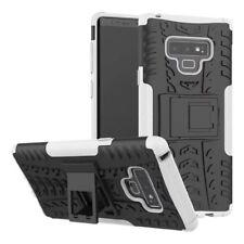 Para Samsung Galaxy Note 9 N960F Carcasa Híbrida 2 Piezas Exterior Blanco Funda