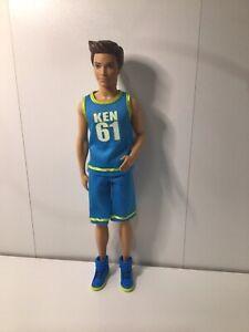 Barbie Ken Doll Fashionistas Molded Brown Hair Tan Skin Mattel Sports Star Great