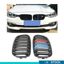 ABS DOUBLE SLAT M COLOUR KIDNEY GRILL GRILLE PAIR For BMW F20 F21 1-SERIES 12-14