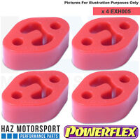 Powerflex Ford Fiesta ST 180 ST180 4x Poly Exhaust Bushes Complete Car Set