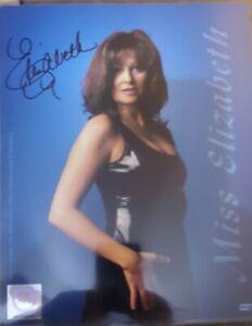 Miss Elizabeth signed 8x10 photo NWO COA WWE WCW WWF Randy Savage