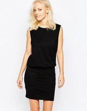 Selected Valdi Sleeveless Dress In Black UK L 14 / EU 42 /US 10  zz7