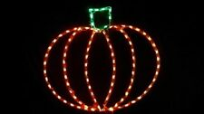 Happy Halloween Large Pumpkin Outdoor LED Lighted Decoration Steel Wireframe