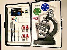 Vtg Sears 900x Zoom Illuminator Microscope Orig Hard Shell Case Slides Filters +