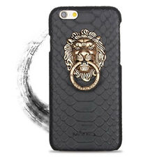 Fashion 3D Lion Head Metal Ring Holder Case Cover For iPhone 6s 7 8 Plus Xs Max