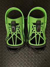 Union Flite Pro Freestyle Snowboard Bindings 2021 Acid Green Lightly Used Size M