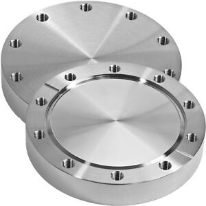 """MDC Vacuum (DN 100) 6"""" Non-Rotatable Conflat Flange Blank UHV"""