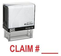 CLAIM # Office Self Inking Rubber Stamp - Red Ink (E-5460)