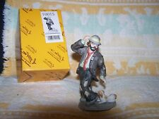 Emmett Kelly Jr Flambro Miniature Collection #10015 Puppy Pulling On Clowns Pant