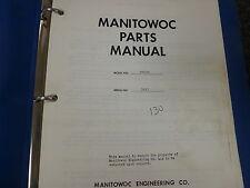 Manitowoc 3900A Dragline Crawler Crane Parts Catalog Manual Book